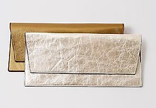 Lola Metallic Clutch by Jutta Neumann  (Leather Clutch)