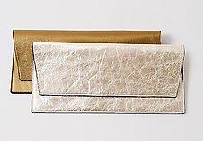 Lola Metallic Clutch by Jutta Neumann  (Leather Clutch)