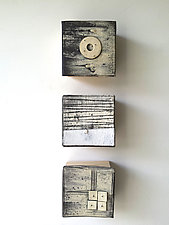 Marks and Texture III by Lori Katz (Ceramic Wall Sculpture)