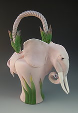 Pink Elephant Tea by Nancy Y. Adams (Ceramic Teapot)