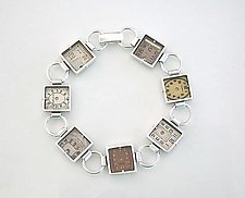 Antique Watch Dial Bracelet by Connie Verrusio (Silver Bracelet)