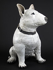 Bull Terrier by Ronnie Gould (Ceramic Sculpture)