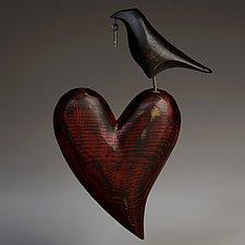 Raven Heart Wall Sculpture by Mark Orr (Wood Wall Sculpture)