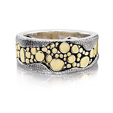 River Pebbles Ring by Rona Fisher (Gold & Silver Ring)