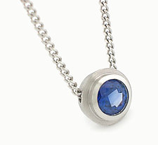 Simplicity Pendant in Platinum with Sapphire by Catherine Iskiw (Platinum & Stone Necklace)