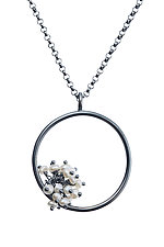Large Adva Pearl Pendant by Michelle Pajak-Reynolds (Silver & Pearl Necklace)