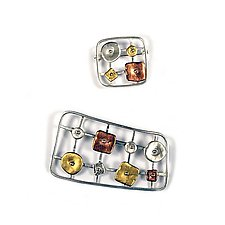 Geometrics in Motion Rectangular Pin by Virginia Stevens (Silver Pin)