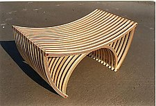 Love Chair for Two by Yokhai Givon (Wood Bench)