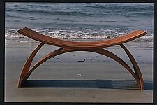 Bench No. 23 by Yokhai Givon (Wood Bench)