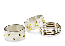 Urban Legend Rings by Nancy Troske (Gold, Silver & Stone Ring)