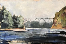 Bridge and Sky by Suzanne DeCuir (Oil Painting)