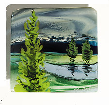 Evergreen by Alice Benvie Gebhart (Art Glass Wall Sculpture)