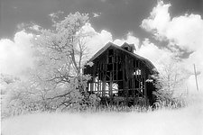 Abandoned Barn II by Elizabeth Holmes (Black & White Photograph)