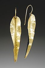Long Leaf Earring by Peg Fetter (Gold & Silver Earrings)