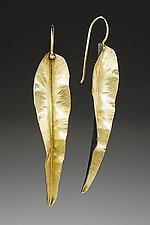 Long Leaf Earring by Peg Fetter (Gold & Silver Earrings)