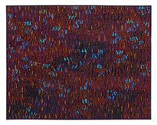 Sparks # 9 Turquoise Maroon by Tim Harding (Fiber Wall Hanging)