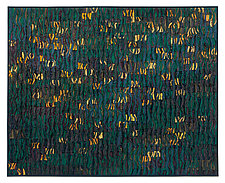 Sparks # 10 Gold Forest by Tim Harding (Fiber Wall Hanging)
