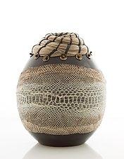 Snake Skin Vessel by Valerie Seaberg (Ceramic Vessel)