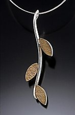 Leafy Branch by Idelle Hammond-Sass (Gold & Silver Necklace)