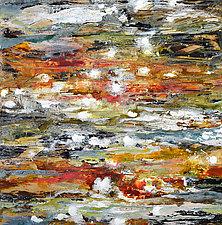 Aquifer Strata II (sienna) by Stephen Yates (Acrylic Painting)