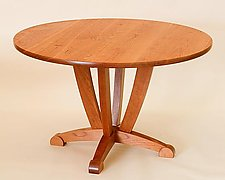 Round Dining Table by Steven M. White (Wood Dining Table)