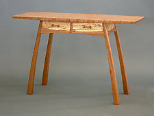Two-Drawer Hall Table by Steven M. White (Wood Console Table)