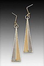 Long Feathered Ear by Eileen Sutton (Silver & Resin Earrings)
