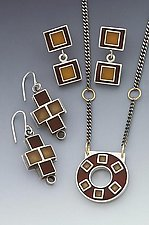 4 Square Plus Earrings & Necklace by Eileen Sutton (Silver & Resin Jewelry)