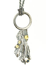 River Lichen Pendant by Renee Ford (Gold & Silver Necklace)