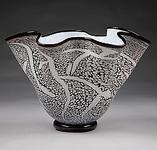 Fissure Bowl, Ice by Eric Bladholm (Art Glass Bowl)