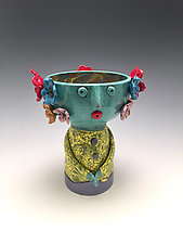 Reyna - Chalice Angel by Lilia Venier (Ceramic Vessel)