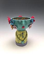 Reyna - Chalice Angel by Lilia Venier (Ceramic Vessel)