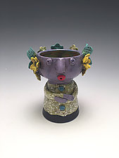 Moni - Chalice Girl by Lilia Venier (Ceramic Vessel)