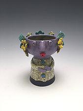 Moni - Chalice Girl by Lilia Venier (Ceramic Vessel)