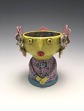 Carmen - Chalice Girl by Lilia Venier (Ceramic Vessel)