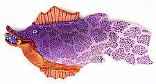 Purple Sardine by Byron Williamson (Ceramic Wall Sculpture)