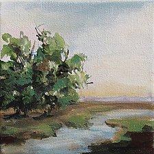 Landscape 208 by Karen  Hale (Acrylic Painting)