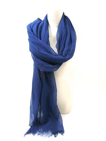 Organic Cotton Light Weight Shawl in Blue