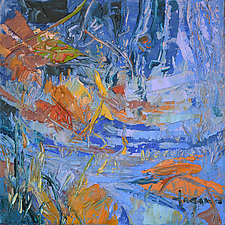 Red Leaves Falling by Dorothy Fagan (Oil Painting)
