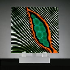 Origins No. 15 by Rhoda Baer (Art Glass Sculpture)
