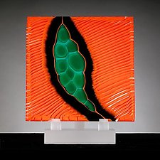 Origins No. 10 by Rhoda Baer (Art Glass Sculpture)