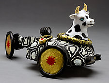 Moo Car by Byron Williamson (Ceramic Sculpture)