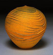 Tangerine Topography by Nicholas Bernard (Ceramic Vessel)