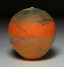 Band of Orange Wrap by Nicholas Bernard (Ceramic Vessel)