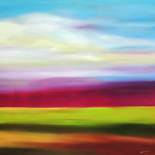 Magenta in the Sky by Mary Johnston (Oil Painting)