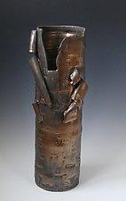Birch in Bronze Vase by Lenore Lampi (Ceramic Vase)