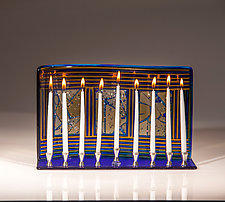 Windows Menorah by Varda Avnisan (Art Glass Menorah)
