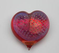 Passion Heart by Robert Burch (Art Glass Paperweight)
