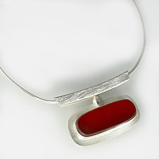 Horizon Necklace by Amy Faust (Art Glass & Silver Necklace)