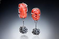 Asymmetric Earrings by Nina Mann (Gold, Silver, & Stone Earrings)